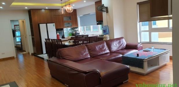 Cho thuê căn hộ c cư Kim Khí số 01 Lương Yên, Hai Bà Trưng. 123m2 đủ nội thất. LH:0387847288